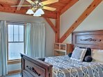 Enjoy peaceful slumbers from the queen-sized bed in the first bedroom.