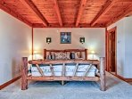 Fall back on the soft king-sized bed in the fourth bedroom.