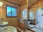 The master bath comes complete with a spacious walk-in shower and duel sinks.