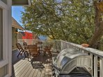 Enjoy quality time as you cook out on the deck overlooking the lake.