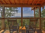 The upper level deck offers the most majestic view of the Smoky Mountains in the whole house!