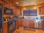 The fully equipped kitchen has everything you'll need to whip up all your favorite recipes.