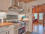 This gourmet kitchen comes fully equipped to handle all your favorite recipes.