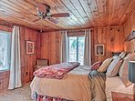 When you're ready for bed, you'll find 4 well-appointed bedrooms in this cabin.