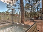 This 4-bed, 3-bath Ruidoso vacation rental cabin is perfect for your getaway!