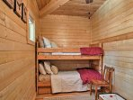 Kids will love falling asleep on the twin-over-twin bunk bed & twin trundle bed