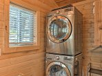 Keep your belongings fresh and clean by utilizing the in-unit laundry machines.