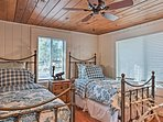 The fourth bedroom includes 2 twin beds.