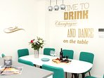 dining area for up to 10