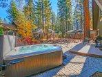 Yard with Hot Tub