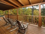 Rocking Chairs on Private Back Deck overlooking Views