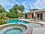 Private Pool and Hot Tub; Lounging; BBQ Grill; Southern Exposure; Privacy Fence; Walk to the Beach!!!