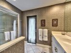 2nd Bathroom with walk in Shower; Entrance to Pool Area!