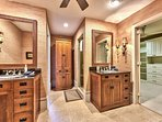 Master Bath with Double Vanity; Walk in Shower!