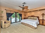 Master Bedroom with King Bed; Private Pool Entrance; HUGE Walk in Closet; TV!