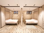 Bedrooms with movable partitions