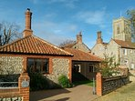 Coach Cottage in quiet, pretty village with great pub, shop, PO. 3 miles to coast. Excellent reviews