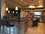 Wrap around counter at main kitchen