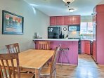 Host your family meals at the 4-person dining room table.