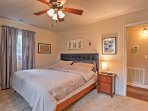 Head into the master bedroom!