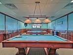 Play a round of pool with a partner!