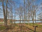 Enjoy family picnics next to the water!