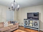 A second TV room makes it easy to spread out in the home.