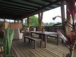 Back verandah looks to mountain views