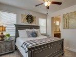 Master Bedroom King bed/TV