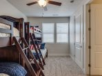 Bedroom 3 - 1 Twin/Double & 1 Twin/Twin with Twin trundle bunk b