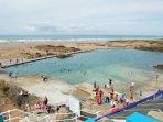 Nearby Bude - free beach swimming pool