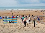 Nearby Bude - surfers