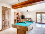 Pool Table and Game Room Bar Area