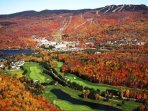 The Mountain and Golf in the Fall