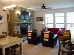 Open Living and Dining Rooms
