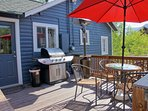 Back deck showing Gas BBQ Grill