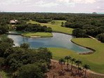 The lake of the golf course giving the name Casa del Lago to our property