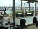 Cafe/Restaurant overlooking marina within 5 minutes of apartment