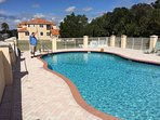 Great community pool with a large pool deck