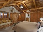 Bedroom 2 with King Bed, Vaulted Ceilings