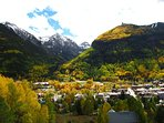 Fall is a lovely time to visit Telluride as colors explode on the mountains.