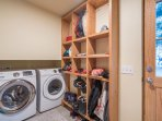 Oversized washer & dryer for guests to use.