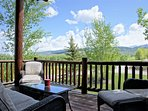 Front Deck with comfy outdoor furniture and great views