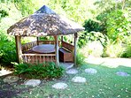 Relax in the gazebo while you enjoy the wildlife and tropical gardens