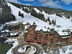 Bird's eye view of Zephyr Mountain Lodge at Winter Park Resort
