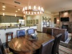 Open layout for your group to congregate and socialize together
