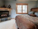 Charming gas fireplace