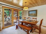 Open up the sliding doors and bring the outdoors in