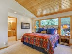 Master bedroom with King bed on main level