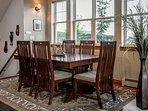 Elegant dining table seats six